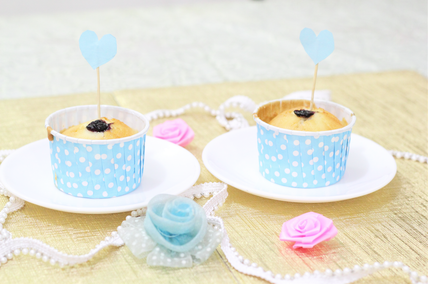 blueberry vday cupcakes