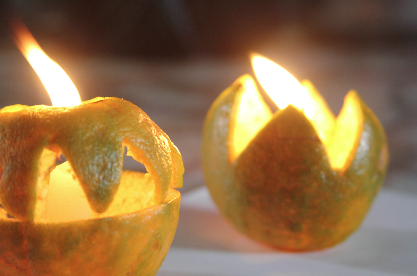 DIY Orange Rind Lights