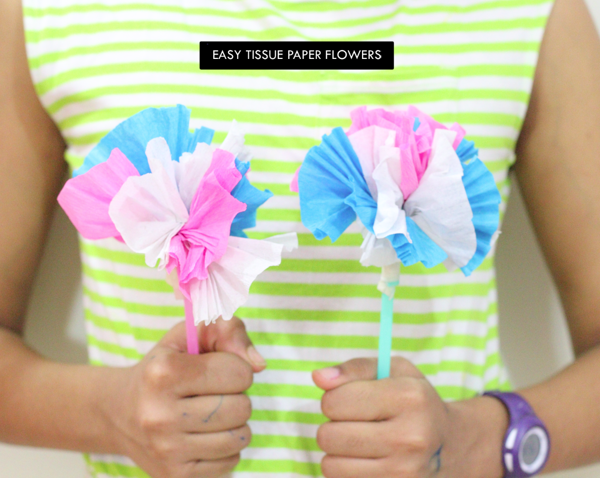 Easy tissue paper flowers surely simple mightylinksfo