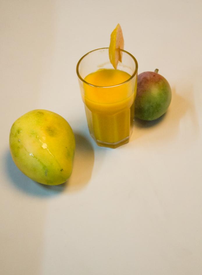 Recipe: Fresh Mango Milkshake at www.surelysimple.com