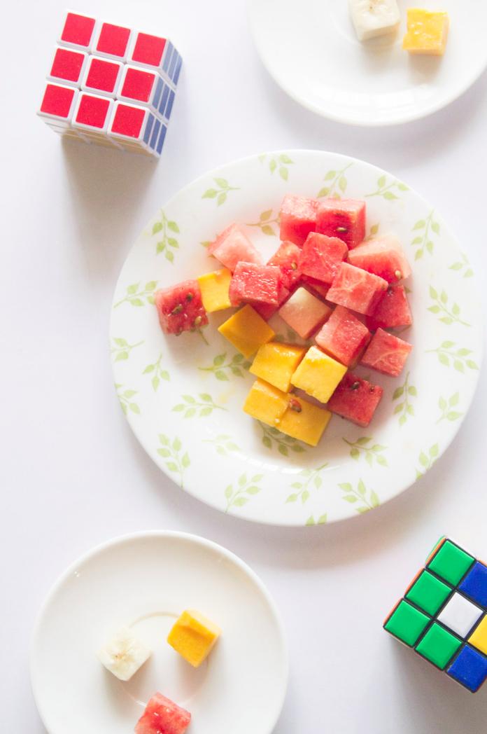 Fruit Rubiks Cube via www.surelysimple.com