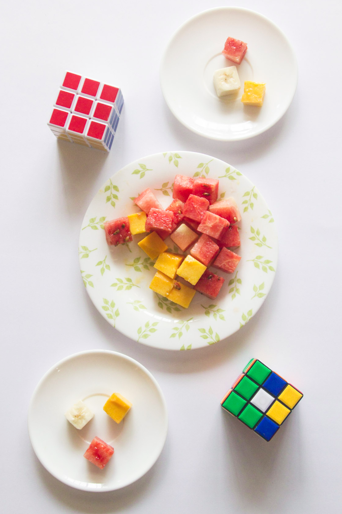 Fruit Rubiks Cube via www.surelysimple.com