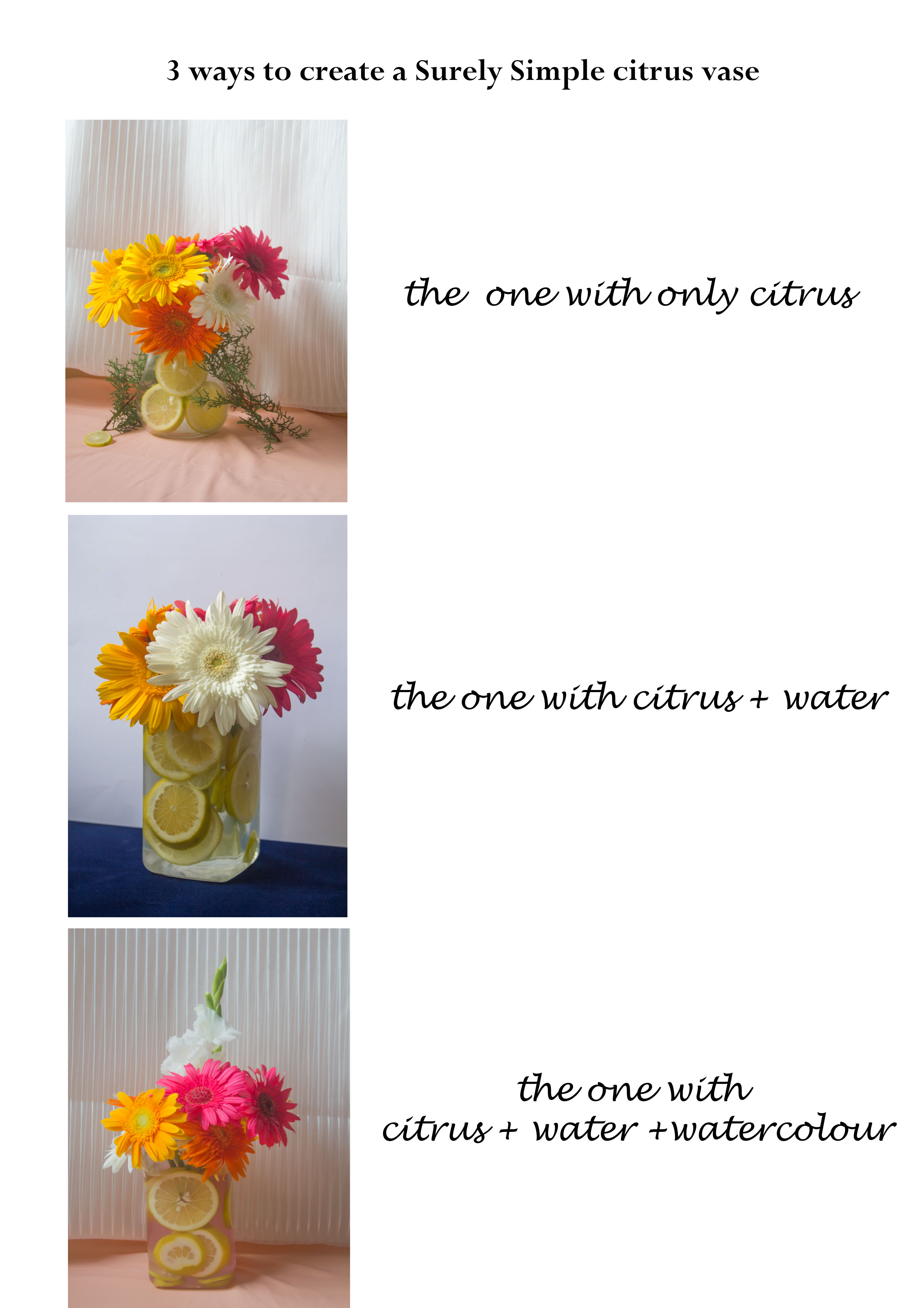 What you need to make fruity floral citrus vases