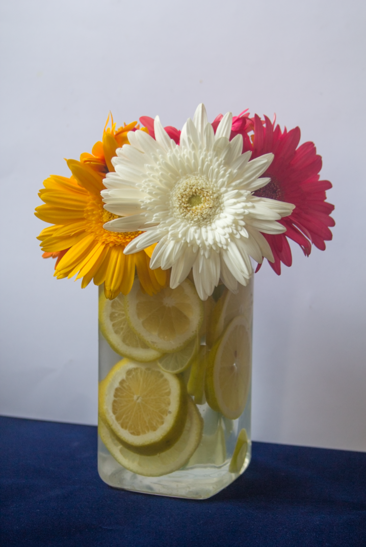 Fruity Citrus Floral Vases via www.surelysimple.com