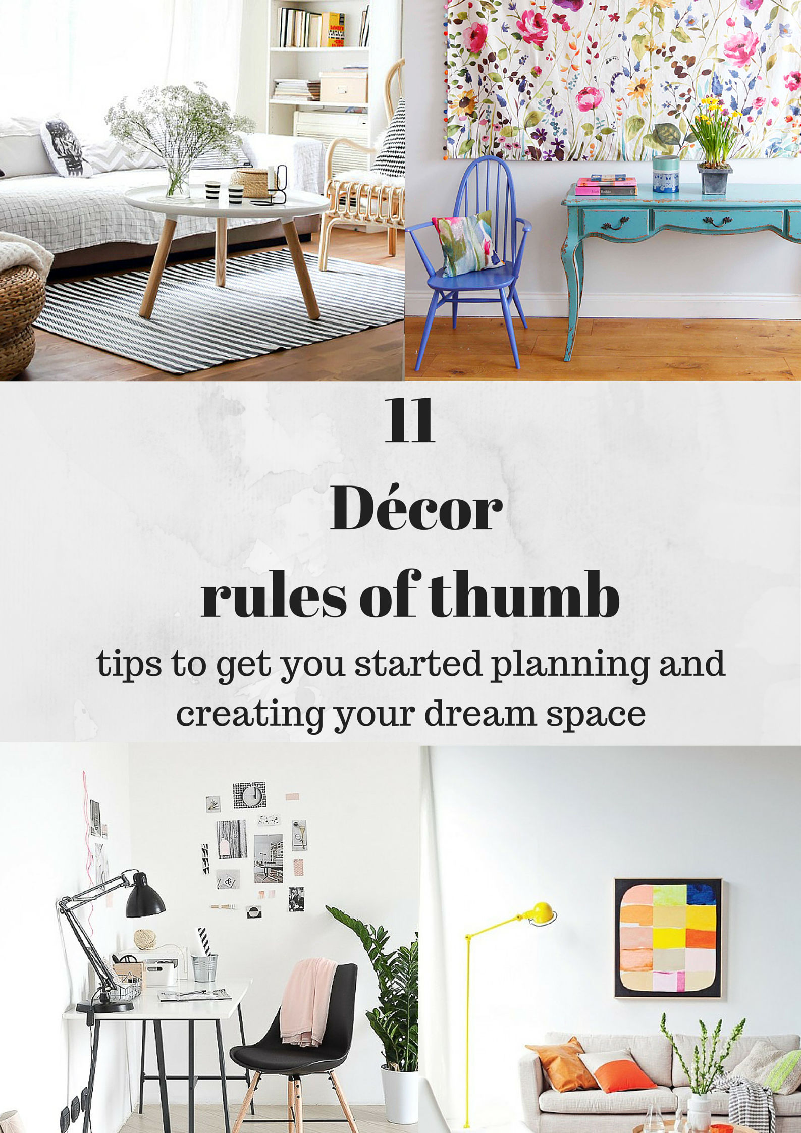 11 Décor rules of thumb via www.surelysimple.com