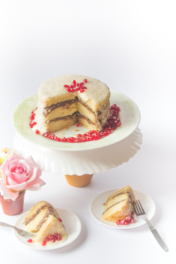 Pomegranate Layer Cake with Butter Cream Frosting via www.surelysimple.com