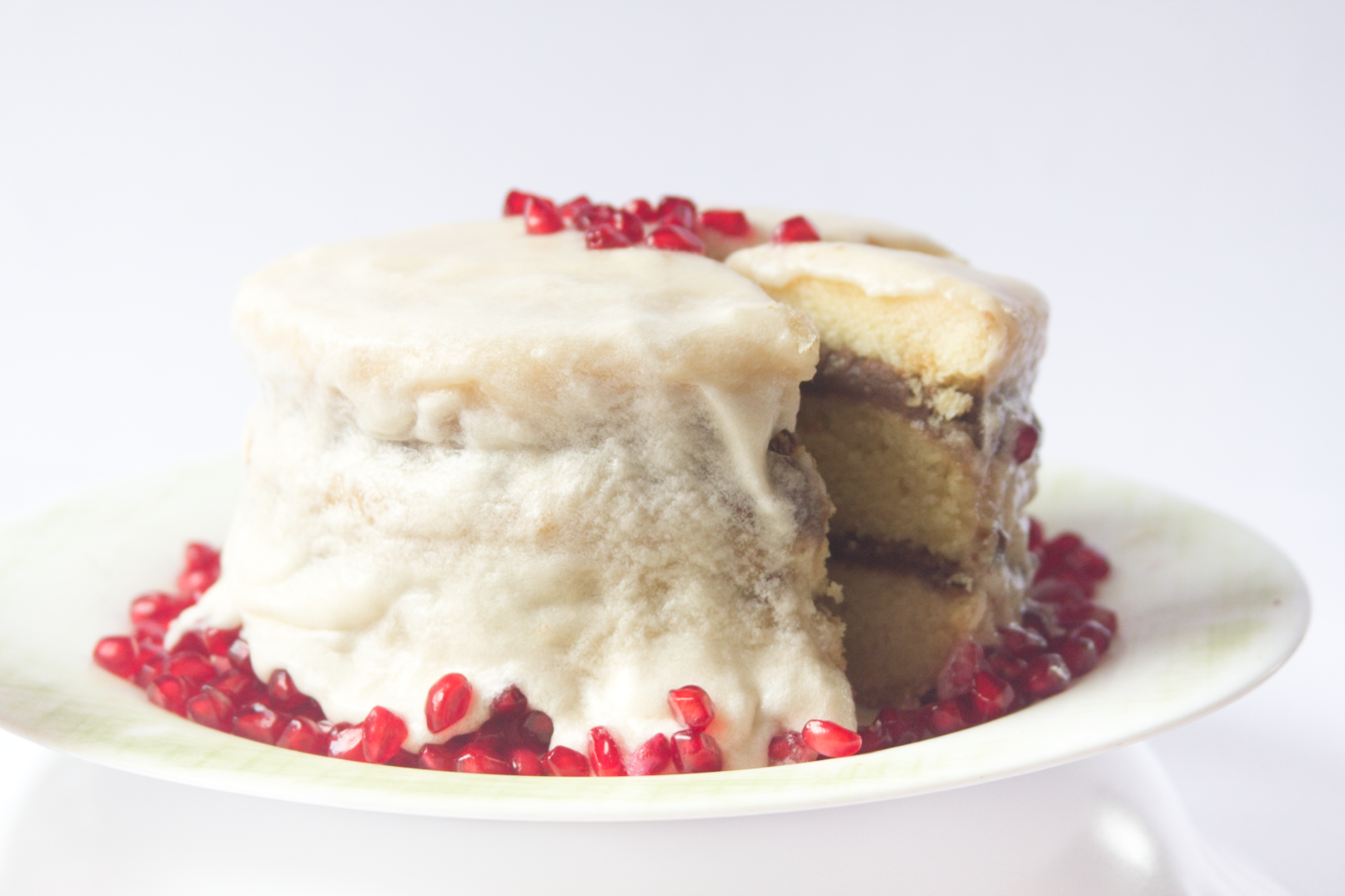 Pomegranate Layer Cake with Butter Cream Frosting