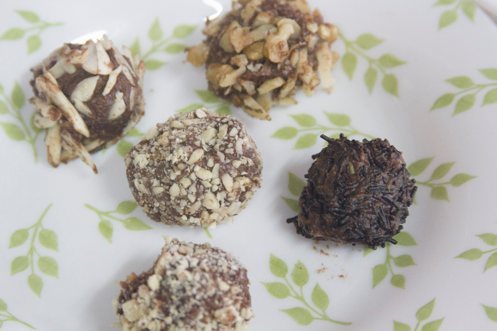 Nutty Chocolate Truffles via www.surelysimple.com