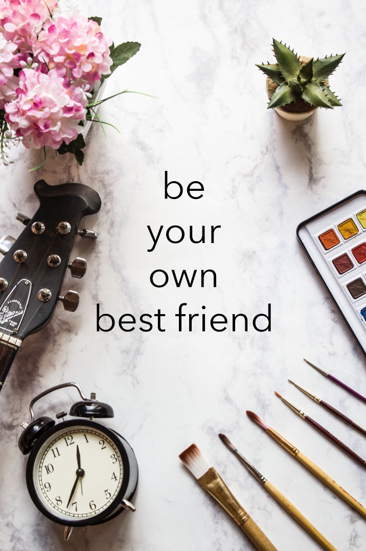 Be Your Own Best Friend - positive living with Surely Simple