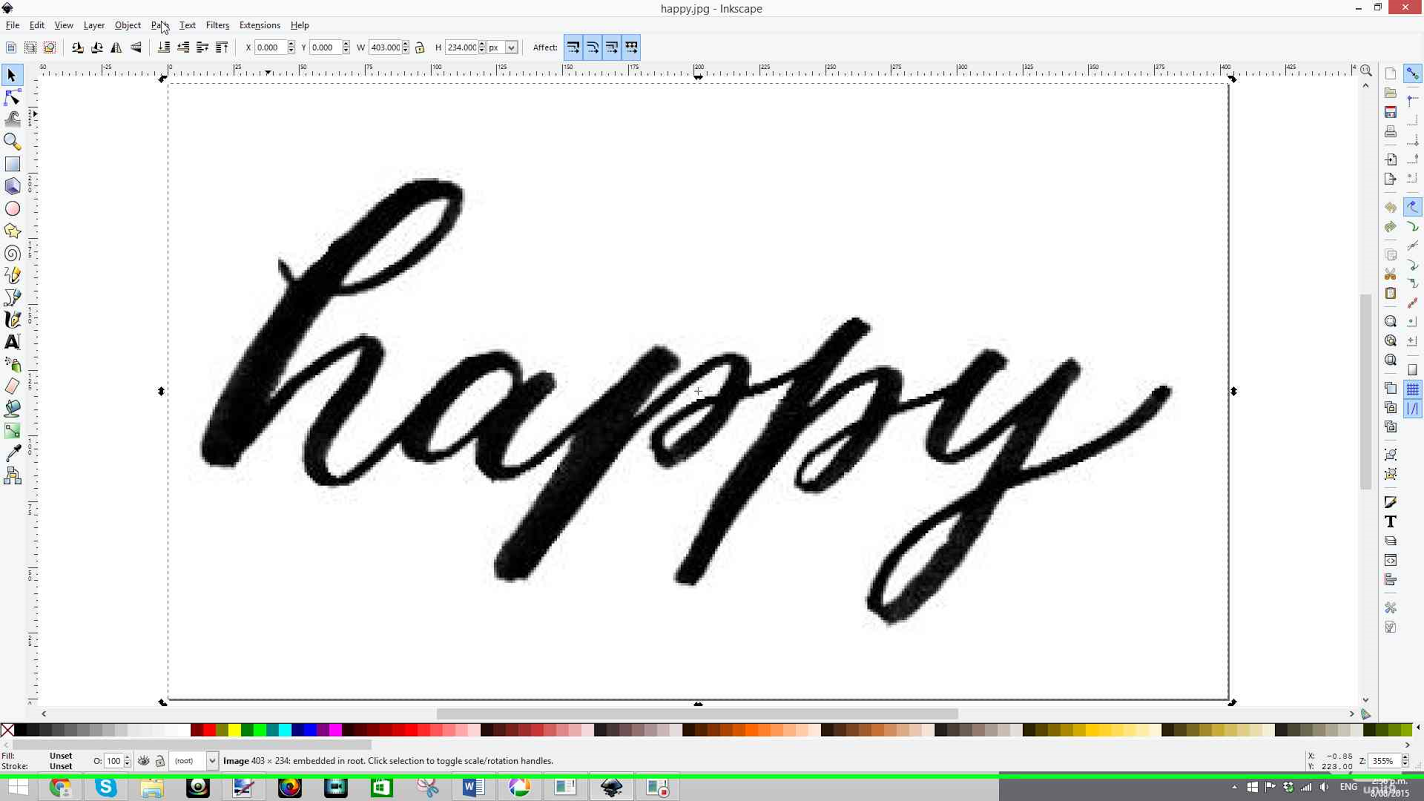 9/ Brush Lettering Inkscape