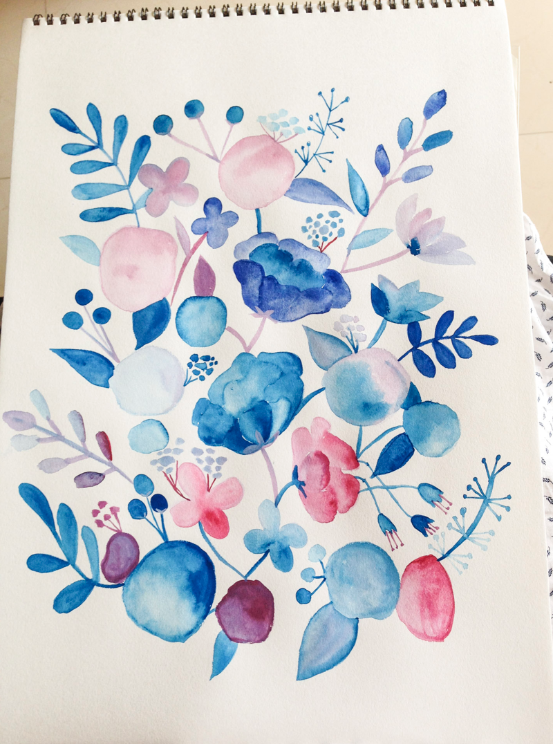 Paint freehand watercolour floral art surely simple for How to paint simple watercolor flowers
