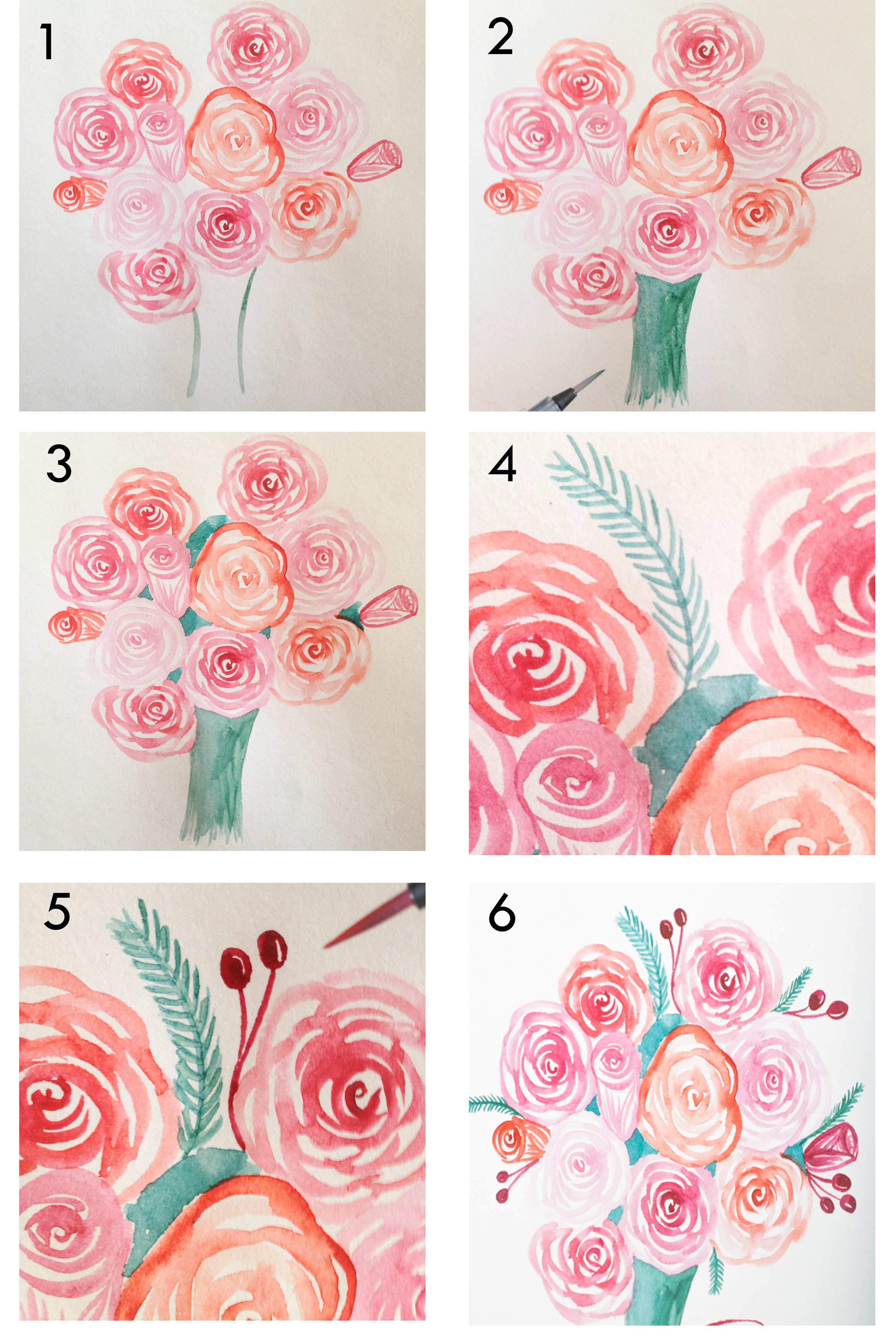 an easy way to paint rose blooms with video surely simple