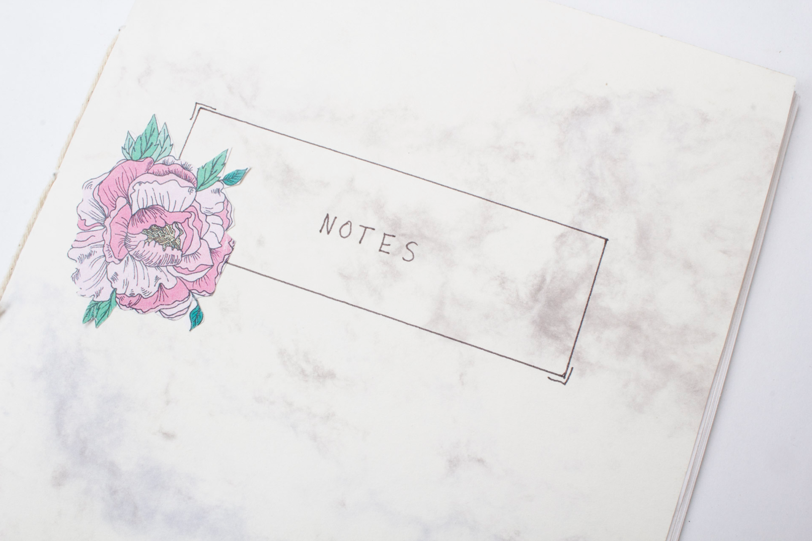 Bookbinding Personalized Journals (+ Free Peony Printables) - a bookbinding tutorial to make both a notebook as well as a sketchbook for finding inspiration!