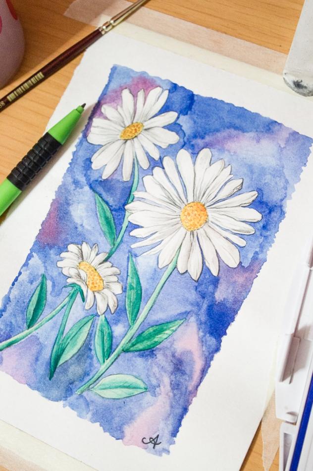 Watercolour gouache surely simple for Cool watercolour