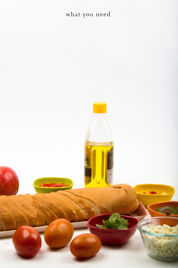 Fresh Bruschetta + 4 Easy Toppings via surelysimple.com
