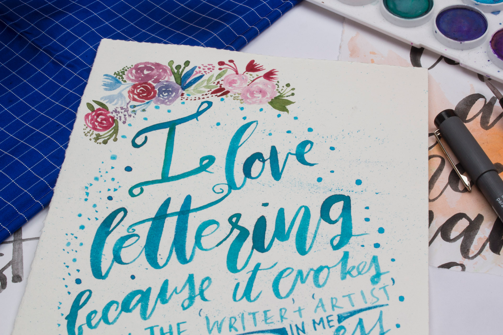 February/ Lettering Challenge// Day 1...via Surely Simple- a creative daily process for the month. Check more: www.instagram.com/surelysimpleblog