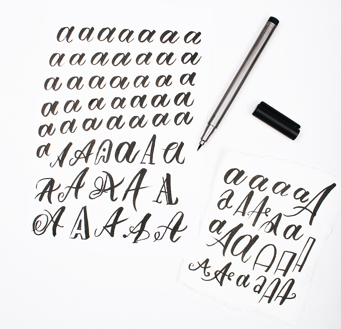 Experiment with Letterforms// Letter Study A via #SimpleAlphabets- www.surelysimple.com