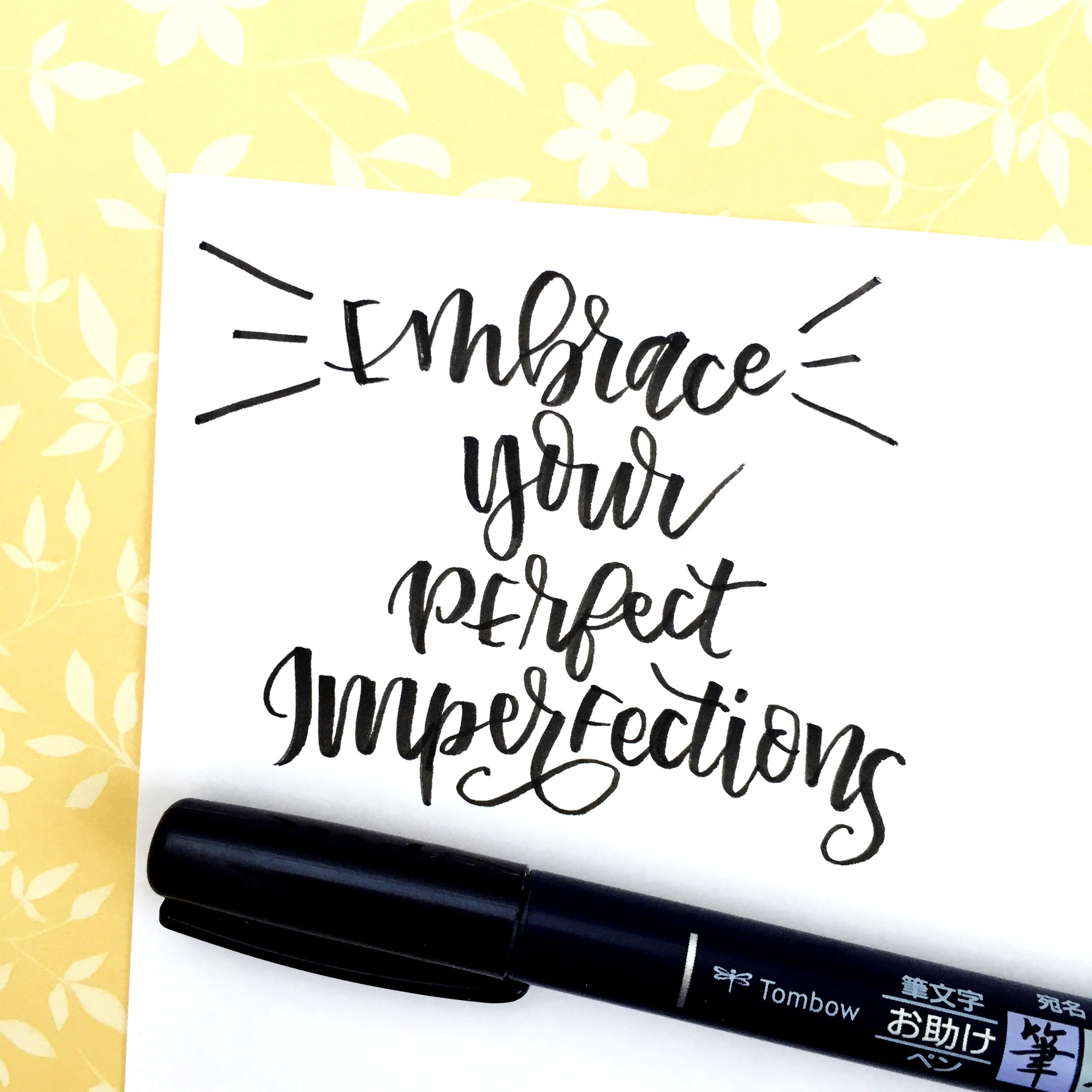 Meet Hazel + Her Lettering!- interview via Surely Simple about brush lettering and inspiration