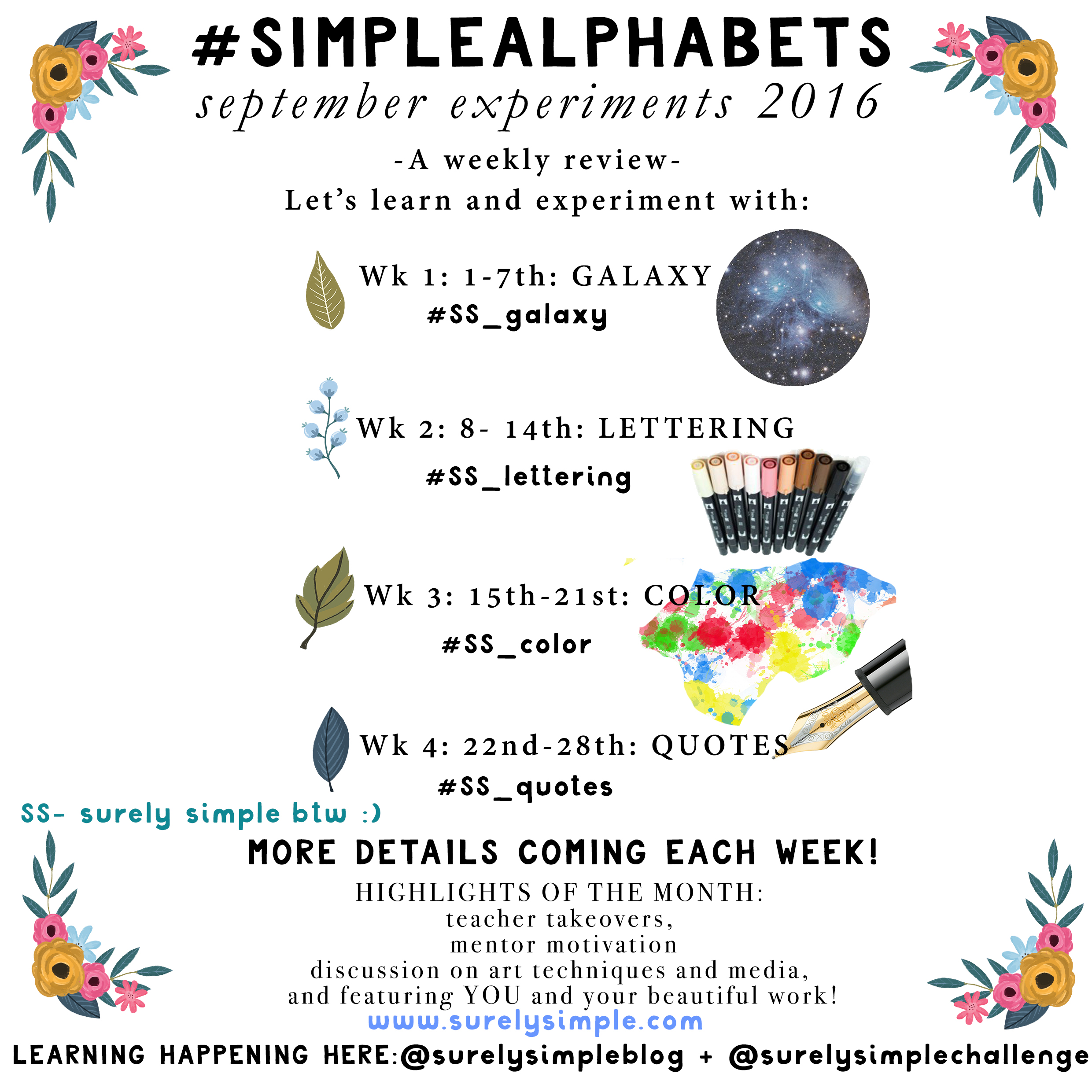 September Experiments Prompts Here! #SimpleAlphabets