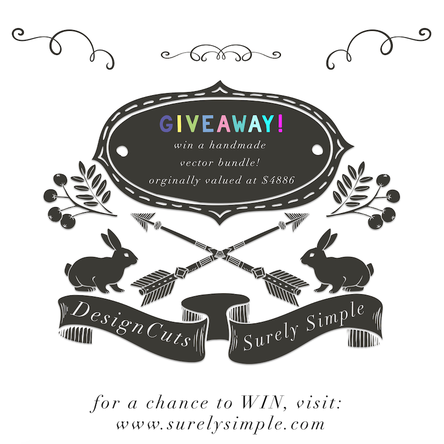 Win The Essential Hand-Made Vectors Collection! A Design Cuts Giveaway via Surely Simple