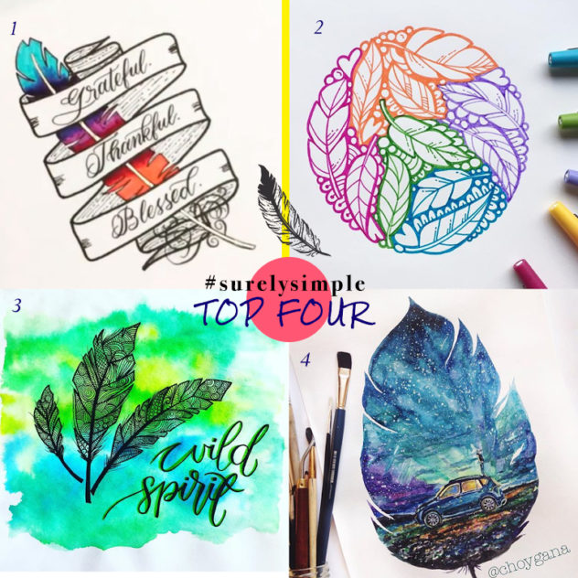 #SurelySimple Feather Theme | Nov 15-21 - A Weekly Creative Challenge by Surelysimple.com