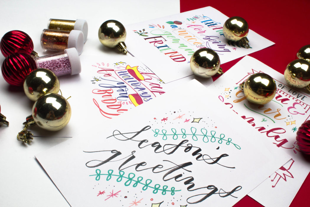 Four Festive Thank You Cards Free Download! (For any occasion!) via surelysimple.com