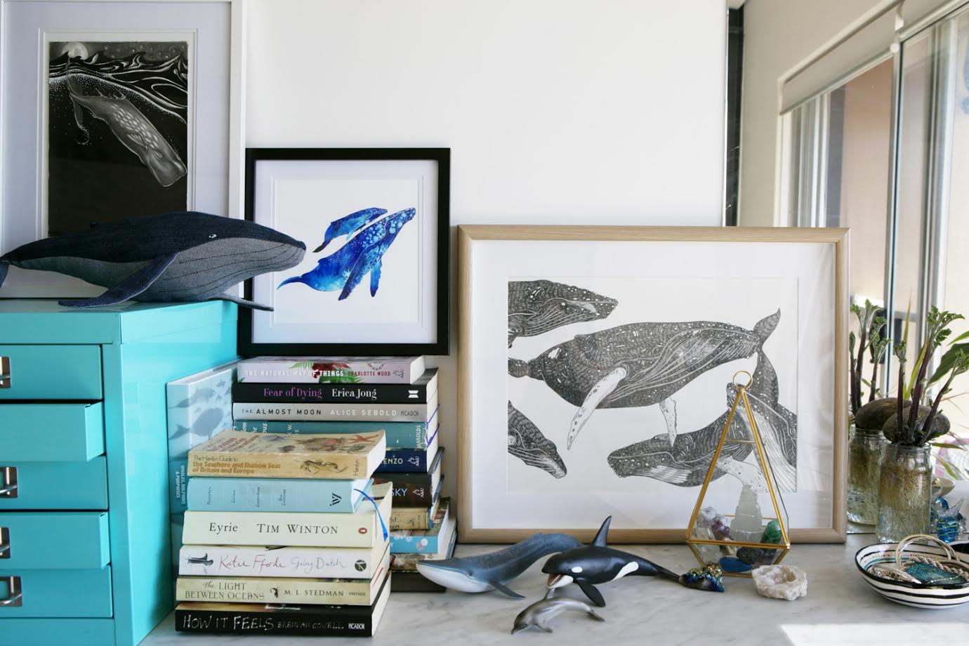 Photo Frames / A Creative Home..with Artist Michelle Fleur in Perth, Australia // Surelysimple.com
