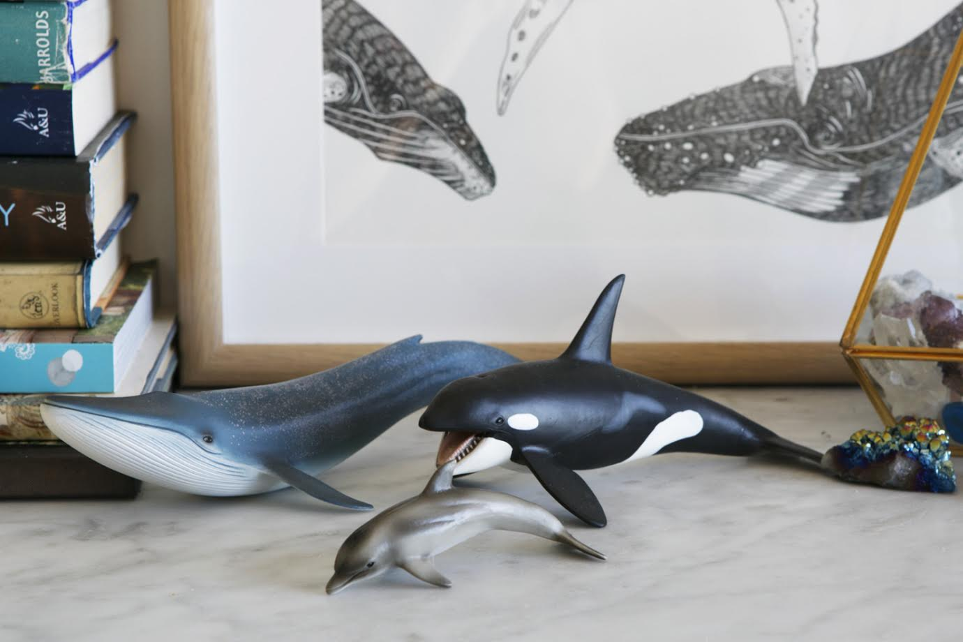 Whale Ornaments / A Creative Home..with Artist Michelle Fleur in Perth, Australia // Surelysimple.com