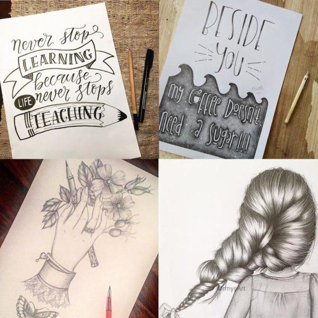 #SurelySimple Pencil Theme Winners | Nov 23-29 via A creative Weekly Art Challenge www.surelysimple.com