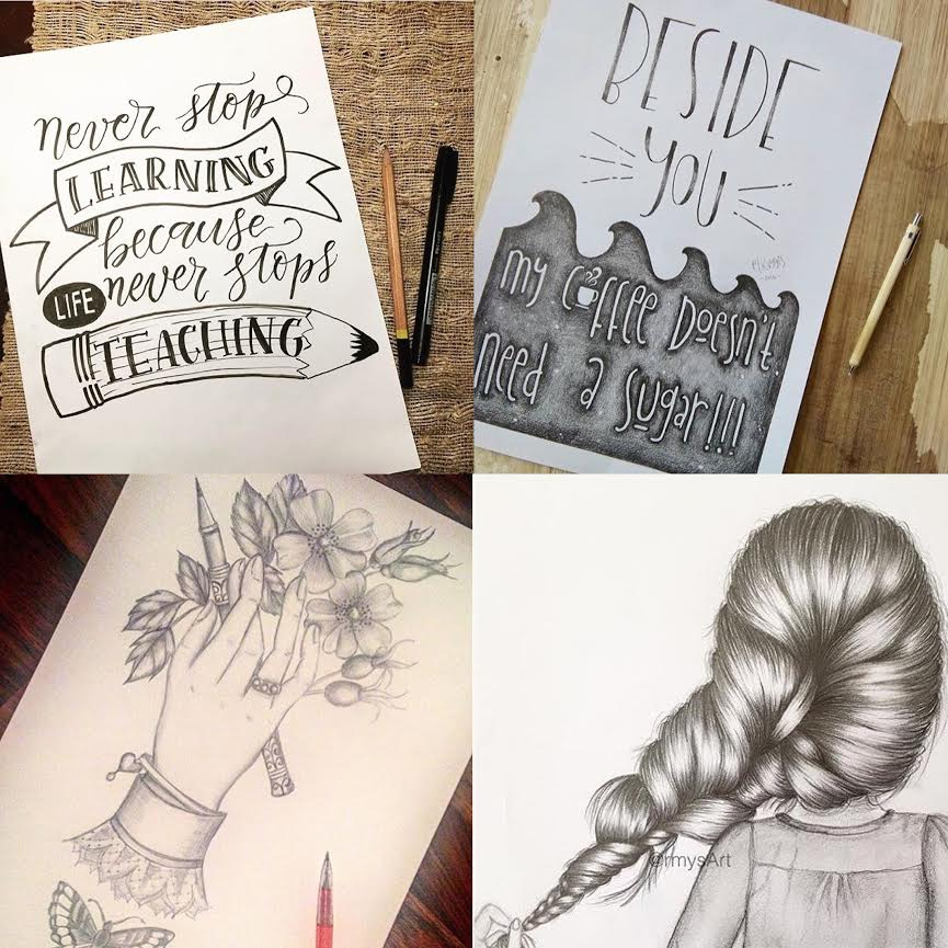 #SurelySimple Pencil Theme Winners | Nov 23-29 via A creative Weekly Art Challenge www.surelysimple.com