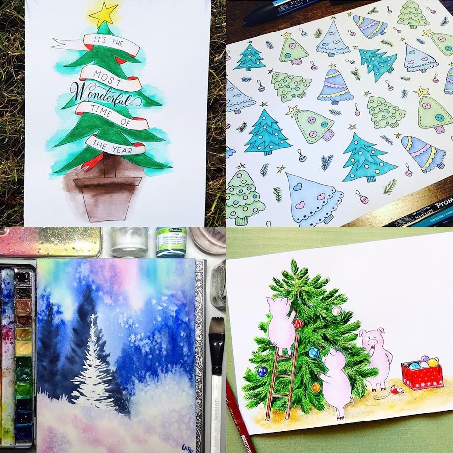 #SurelySimple Christmas Tree Theme Winners   Dec 1-7 via surelysimple.com