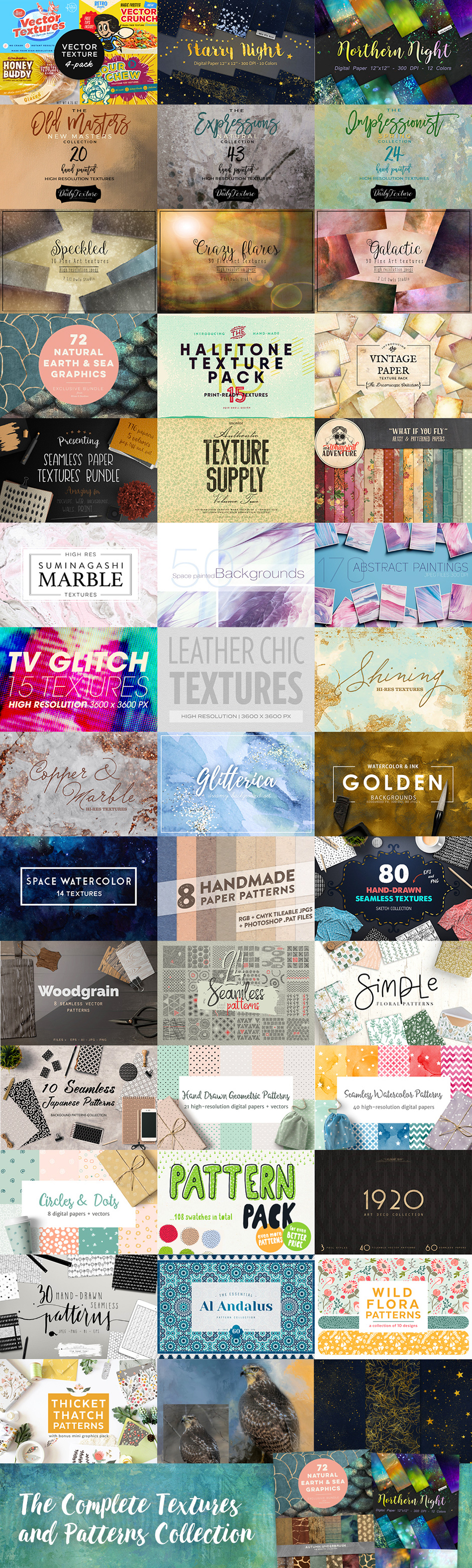 Giveaway: Win The Complete Textures and Patterns Collection! (graphic bundle) via surelysimple.com