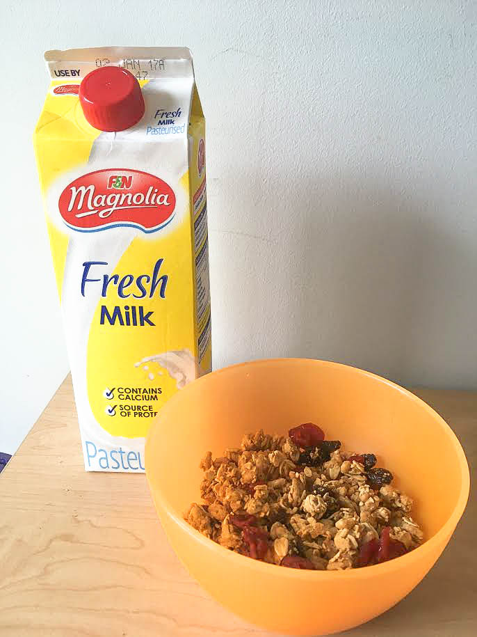 milk and cereal - What Does The Word 'Resolution' Mean in 2017? Lifestyle essay article via surelysimple.com - tips for the New Year