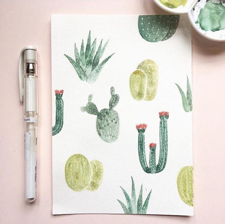 CACTUS WINNERS // #SurelySimple Cactus Theme Winners | a weekly instagram art contest via Surelysimple.com
