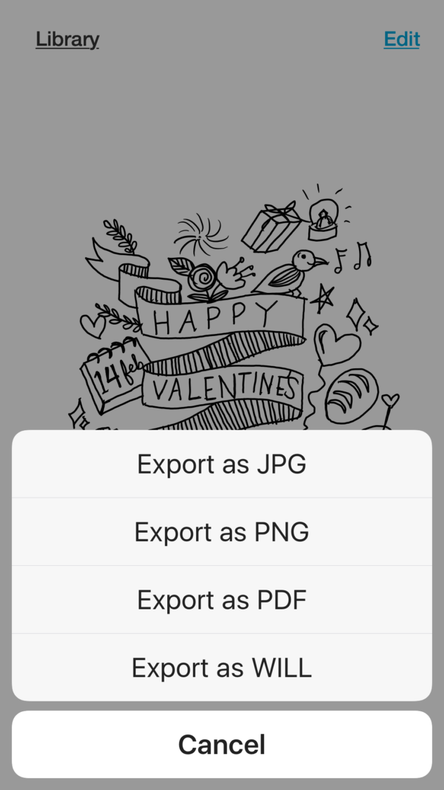 Inkspace App Export Function/ BAMBOO SLATE REVIEW AND VALENTINE'S DAY FREE COLORING SHEET via SurelySimple.com