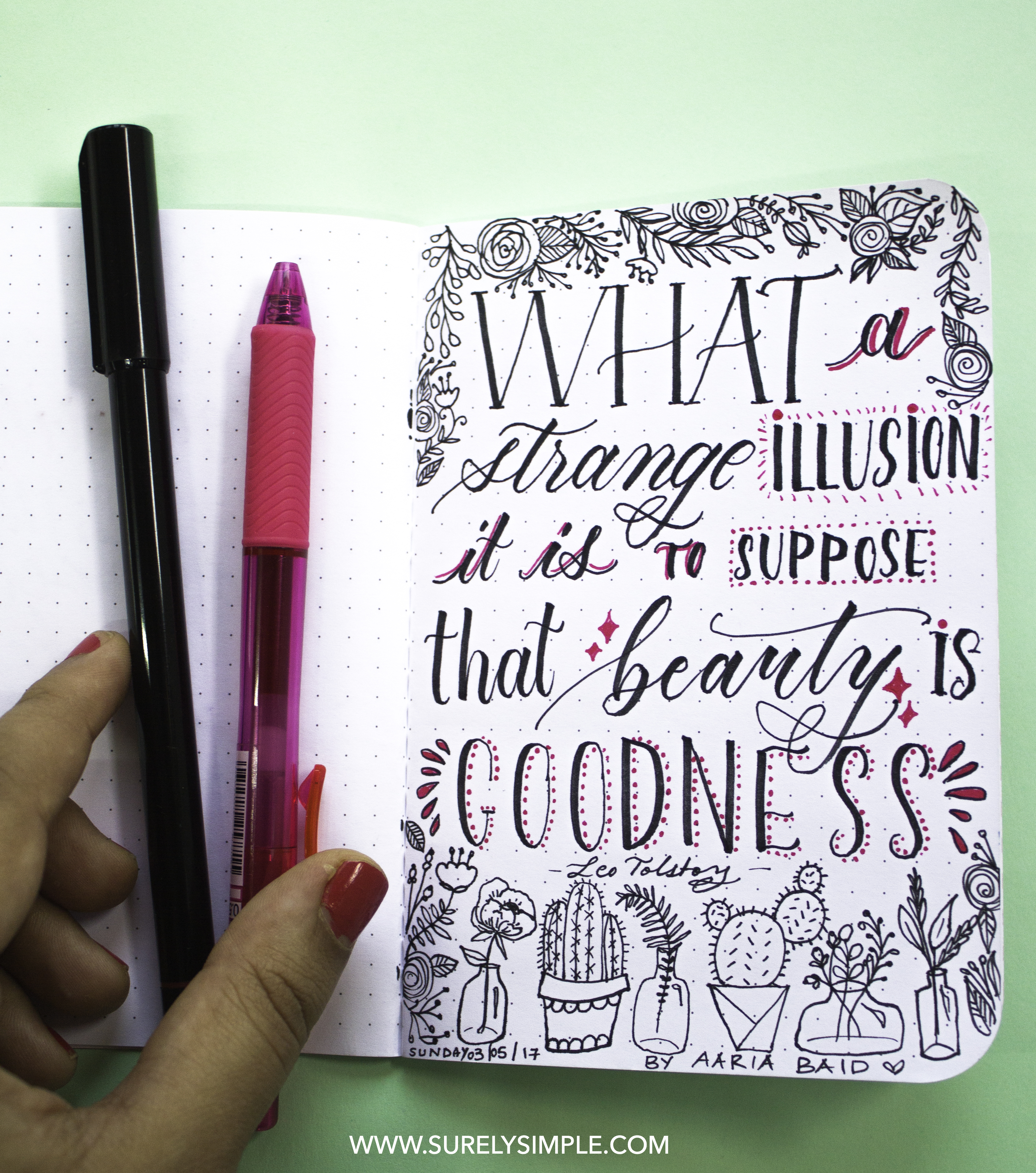 New Handlettering Quotes Project! daily quote series on surelysimple.com instagram.com/surelysimpleblog