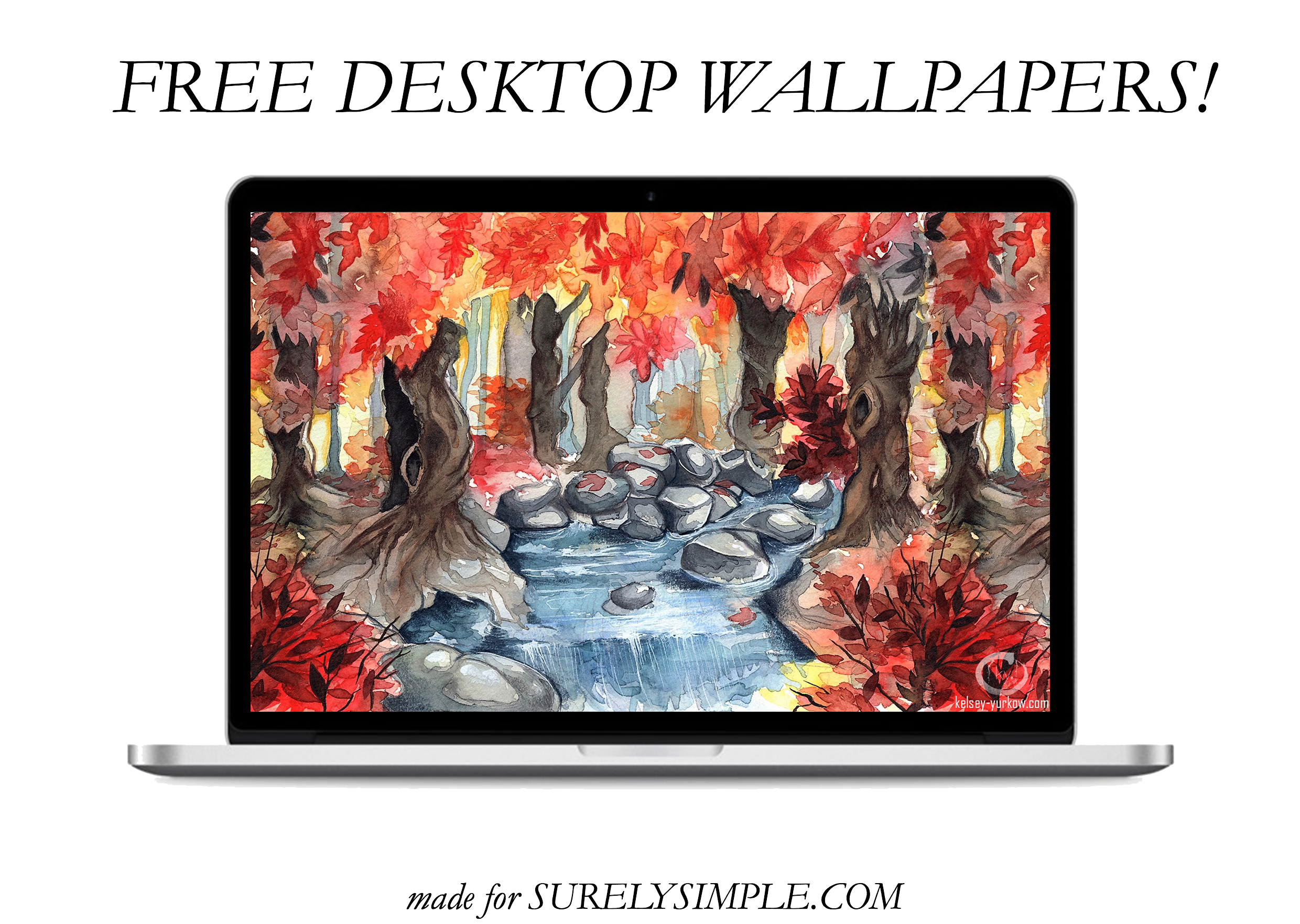 5 Free Artistic Phone and Desktop Wallpapers! | 1 | Magical Woodland