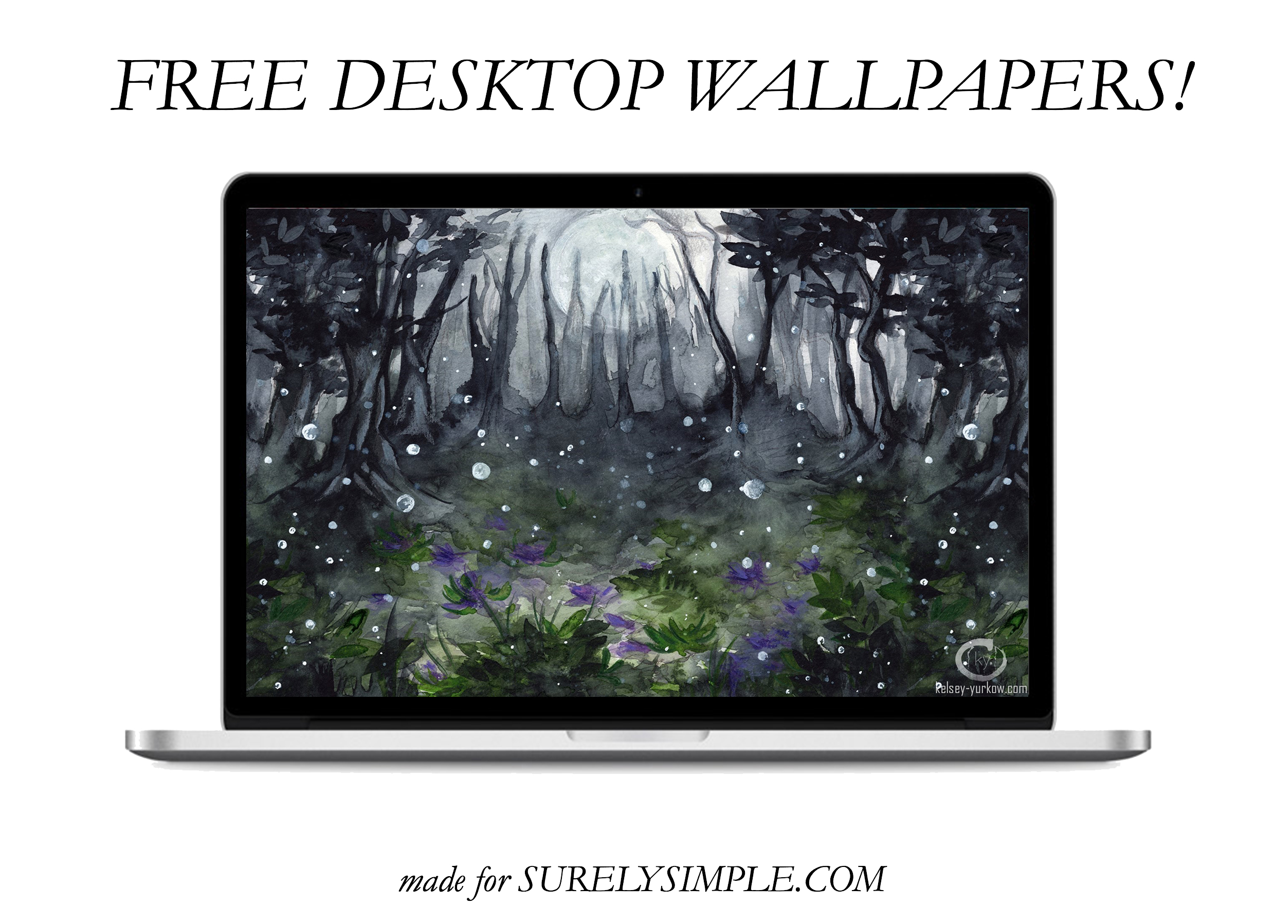5 Free Artistic Phone and Desktop Wallpapers! | 1 | Moonlight