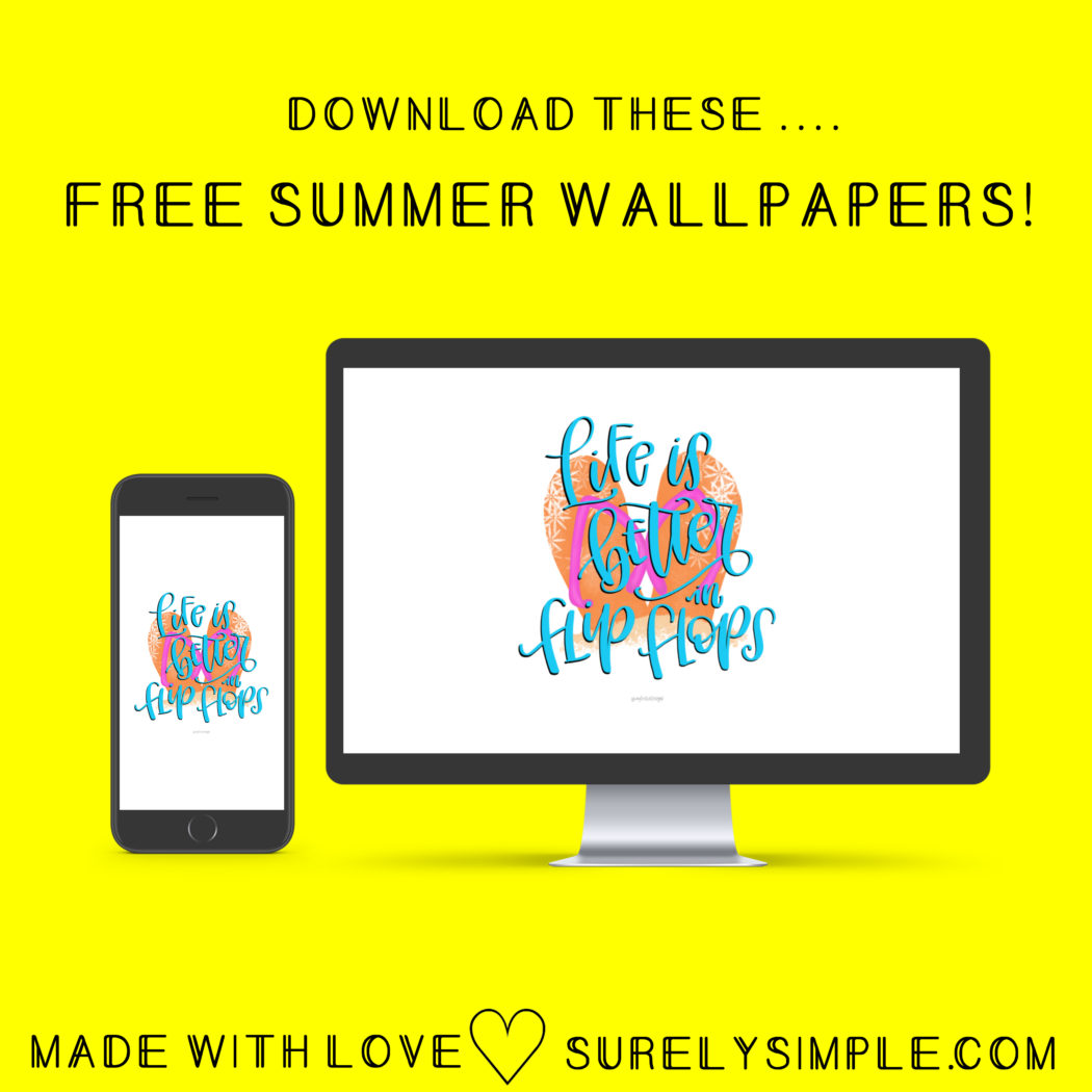 5 Free Summer Phone and Desktop Wallpapers! | Surelysimple.com