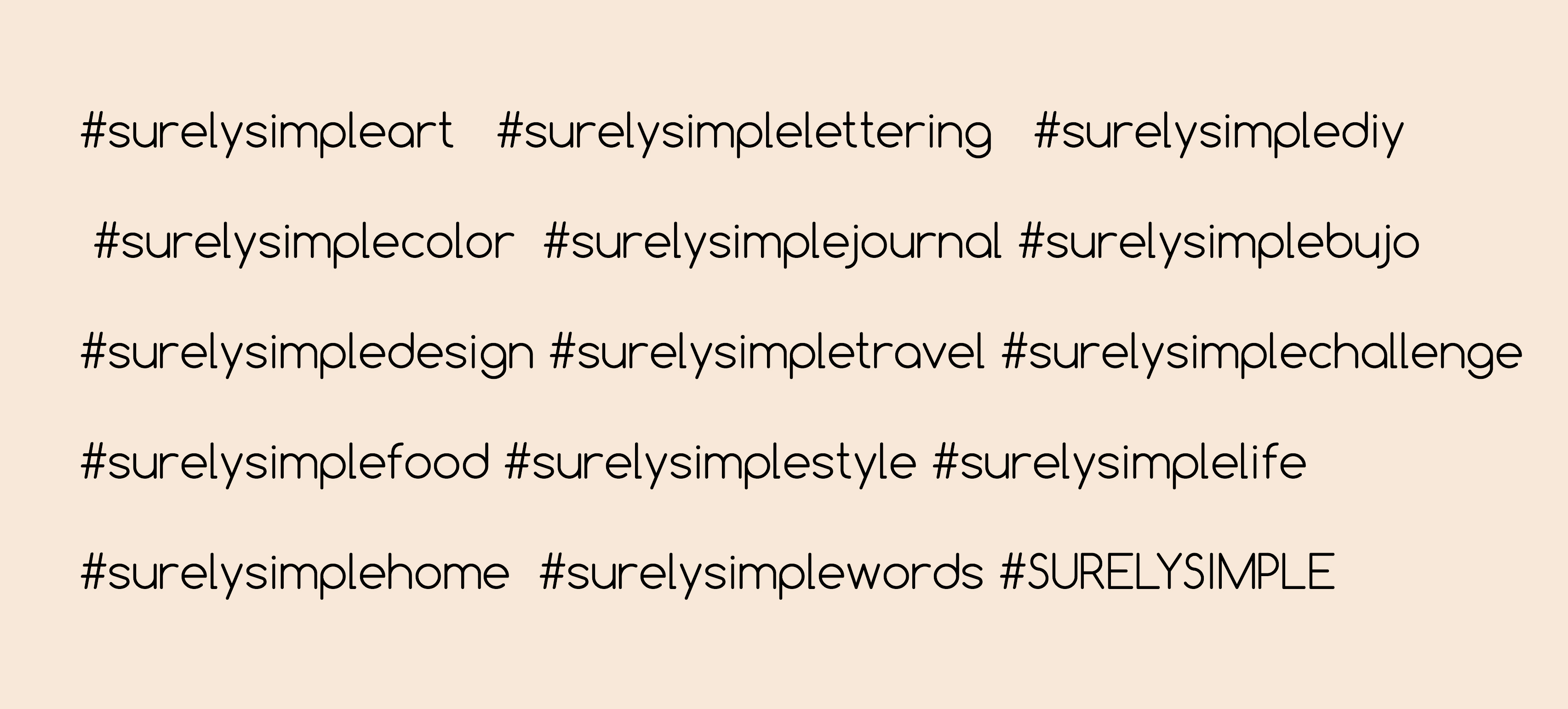 TAG DIRECTORY // Surely Simple #Hashtag Guide + New Changes! via SurelySimple.com