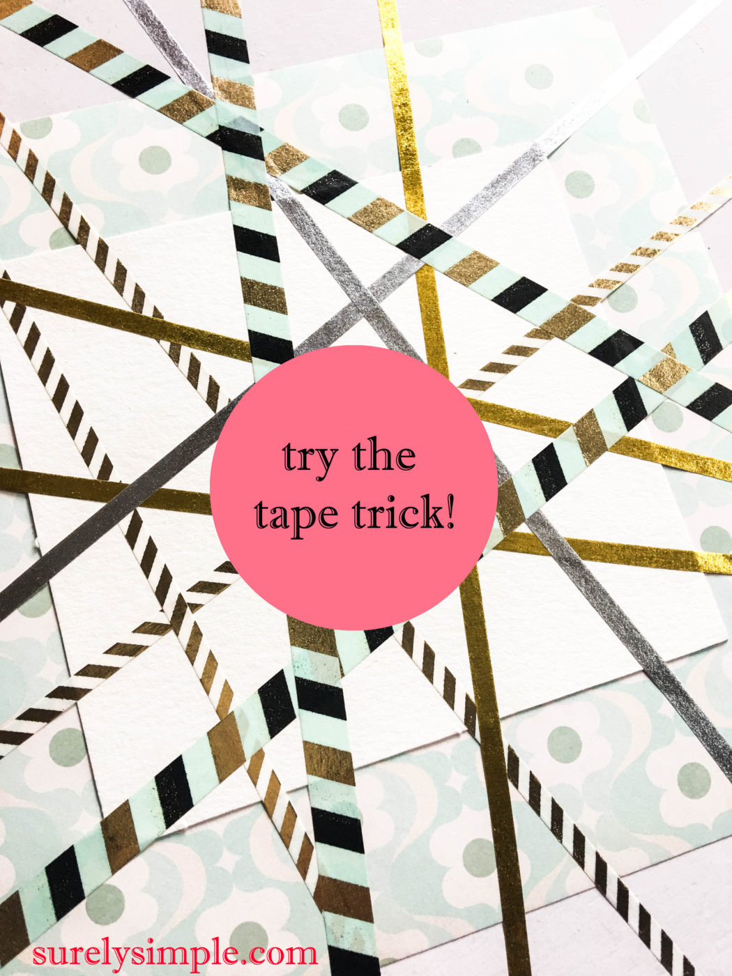 Let's try the 'Tape Trick' + A Cool Watercolor Discount For You!