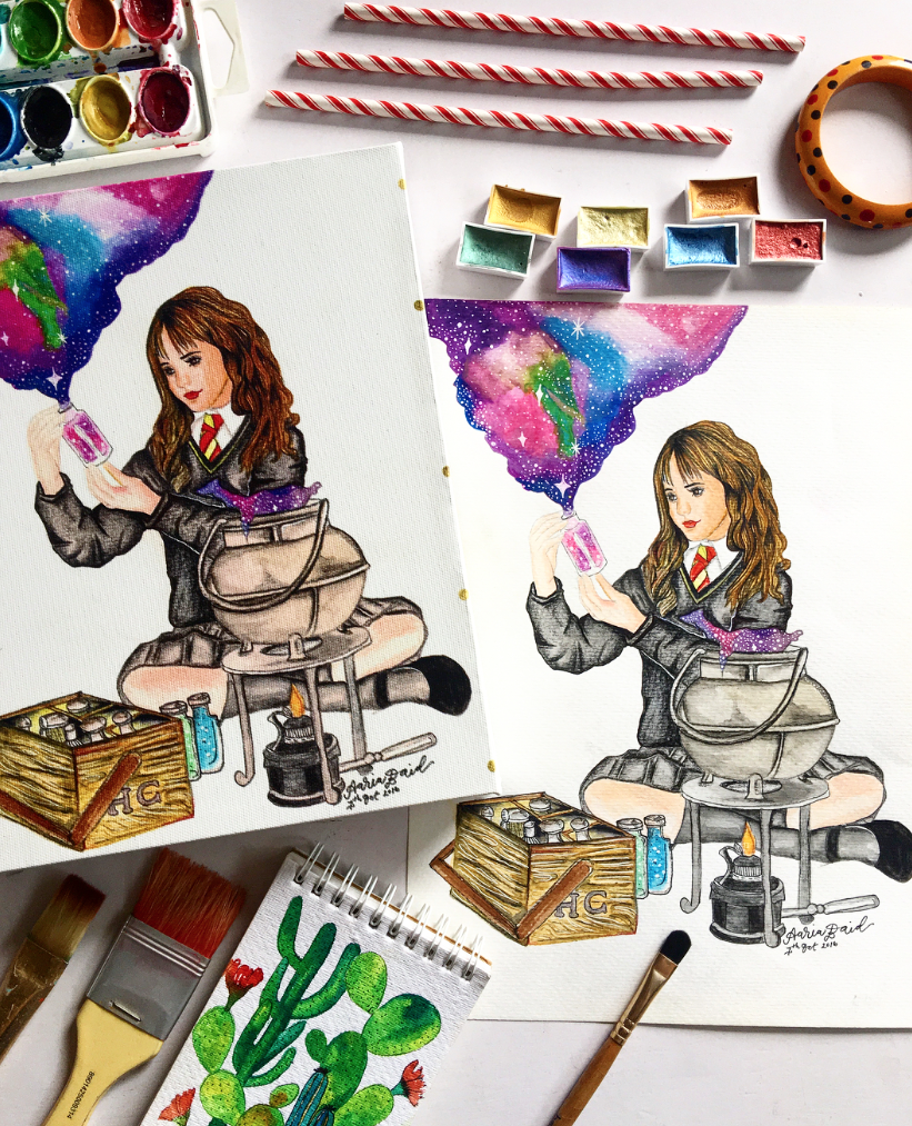 Hermione Art WHAT IS MIXBOOK // An artist's perspective: Mixbook Review (+ 9 Free Wallpapers!) surelysimple.com
