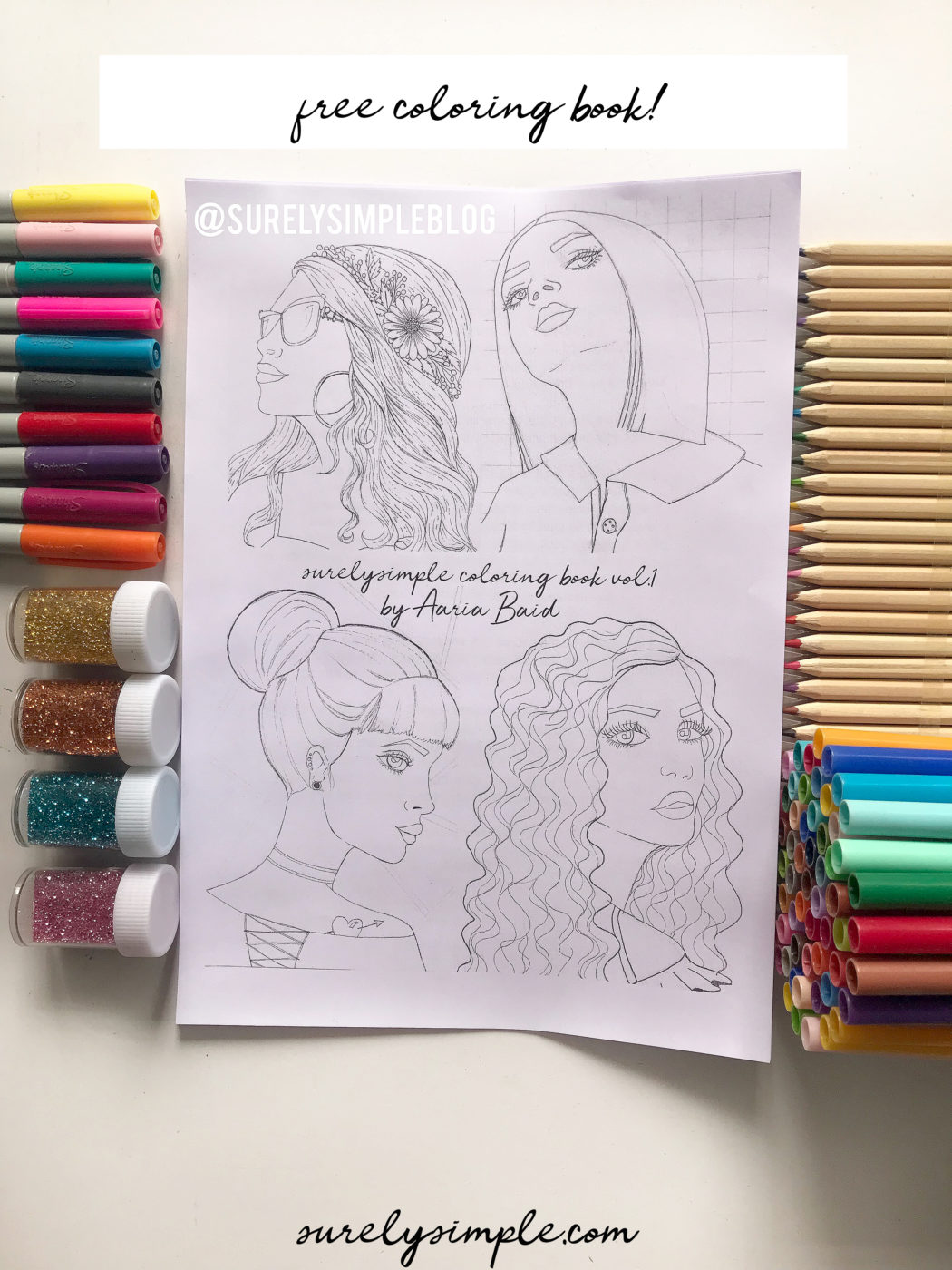 Free Download : Girls Coloring Book vol. 1! surelysimple.com