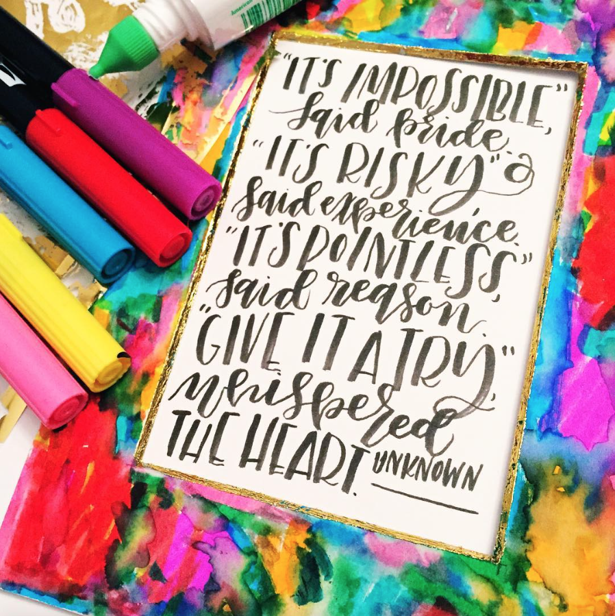 Surely Simple Art Directory: Artist Interview: Lettering with Lauren of Renmadecalligraphy!
