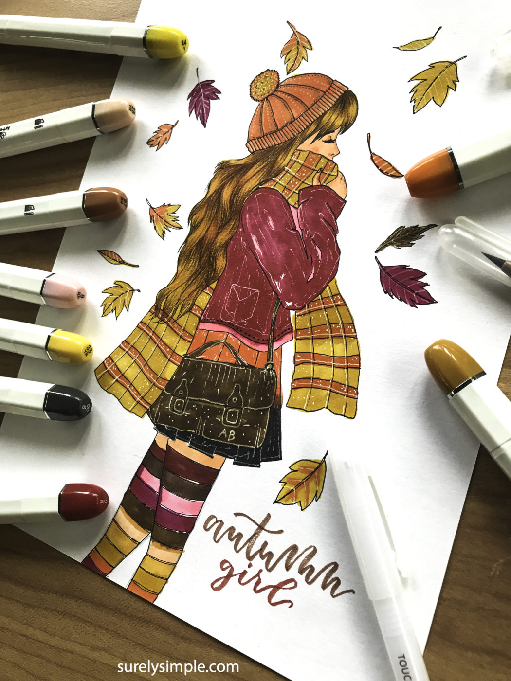 Autumn Girl Vibes- video and character design by Aaria Baid// surelysimple.com