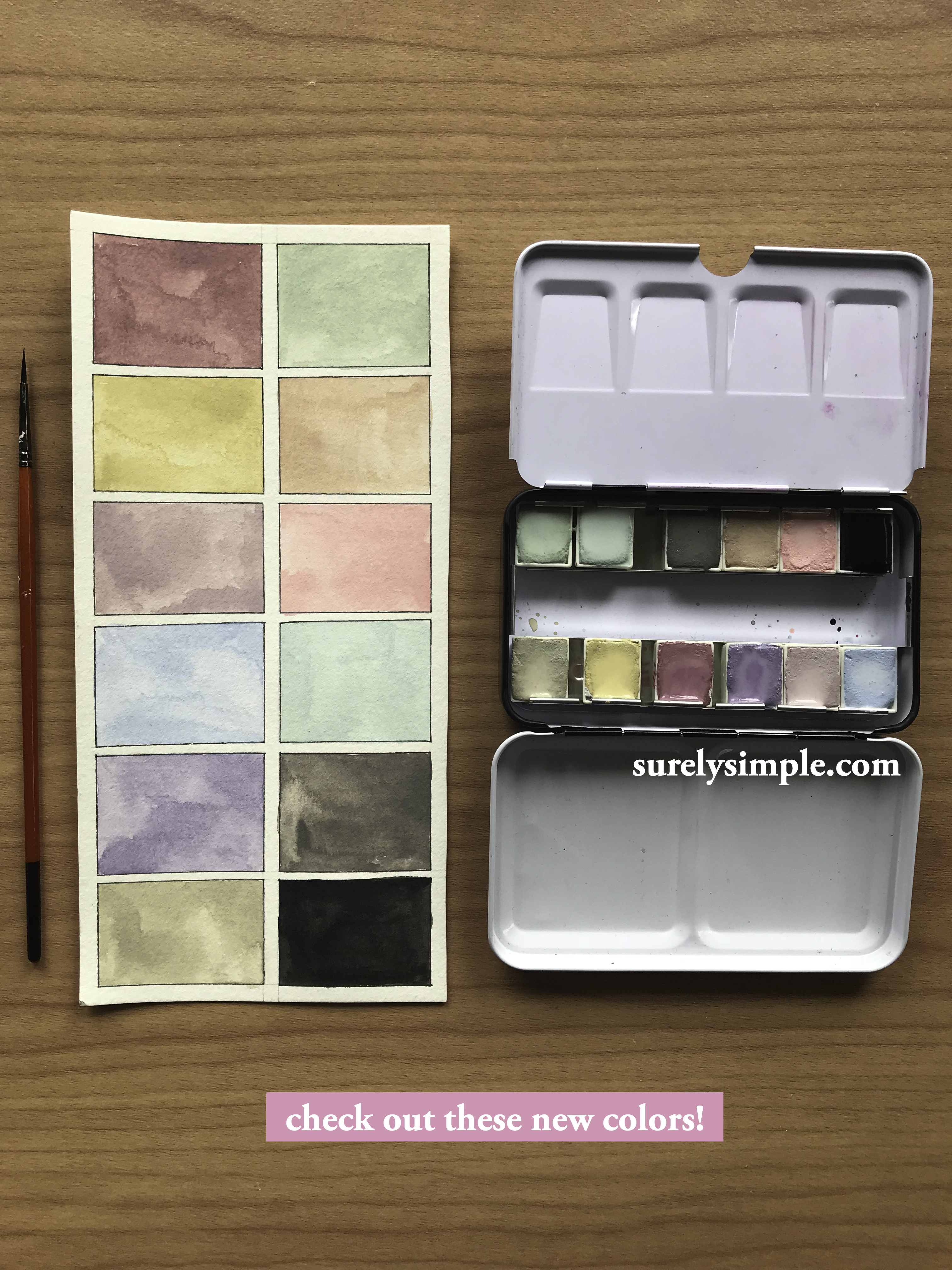 Watercolor Review: Prima Marketing Inc Vintage Pastel! (New Release!) - via surelysimple.com // IG: instagram.com/surelysimpleblog