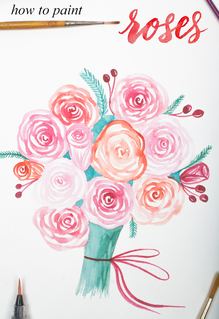 An Easy Way To Paint Rose Blooms With Video